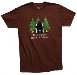 "Hatley ""Does a Bear Sit in the Woods"" Organic T-Shirt"