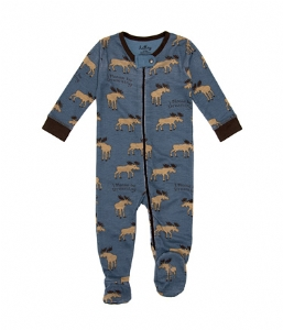 Hatley Steel Moose Footed Coverall