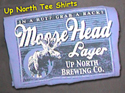 Up North Moose Head Lager T-Shirt